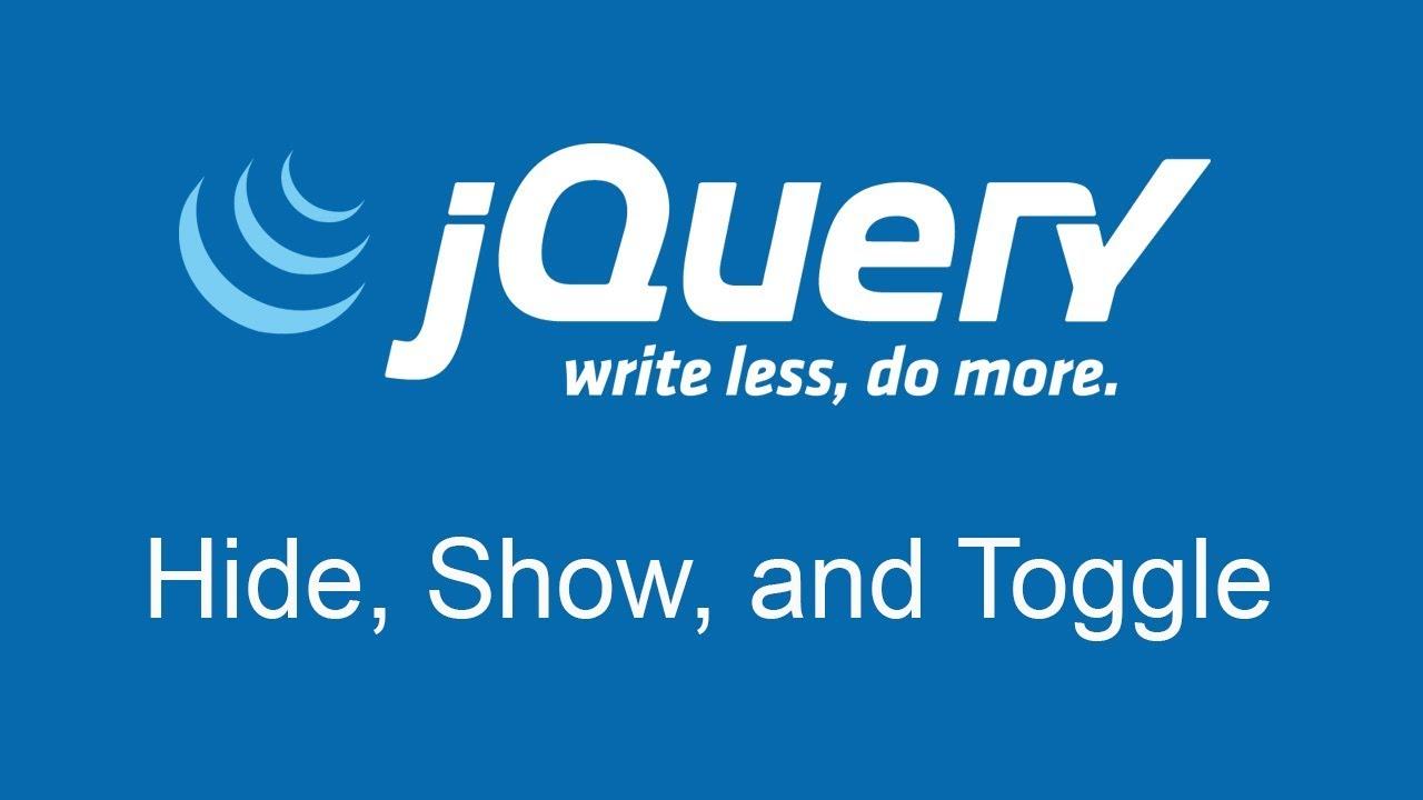 jQuery — Появление и исчезновение элементов