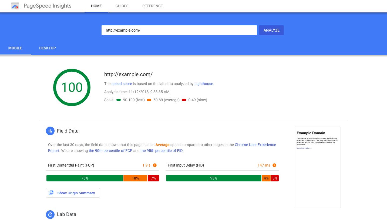 Оптимизация сайта для PageSpeed